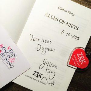 Interview met Gillian King en boekpresentatie 'Alles of niets'