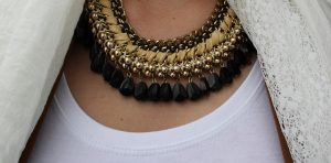 OOTD Outfit Leopard print brown By Dagmar Valerie statement necklace black