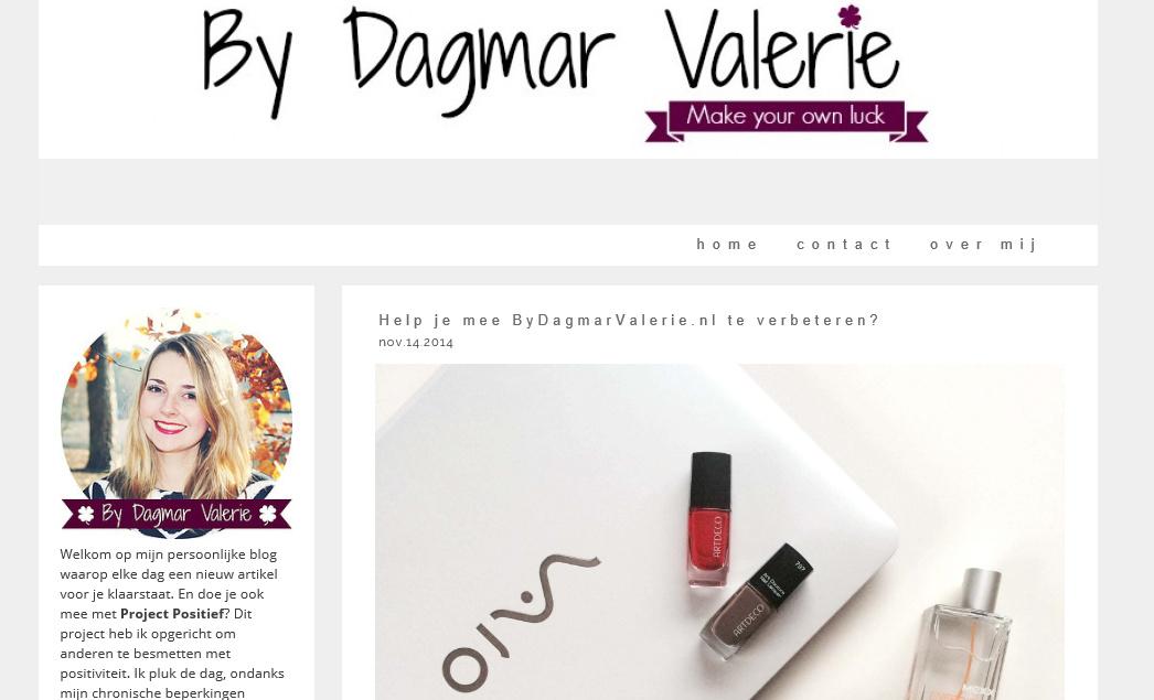 Uitslag van de enquête voor ByDagmarValerie.nl