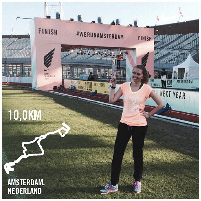 Ik liep 10km tijdens de #WeRunAmsterdam 16 mei 2015