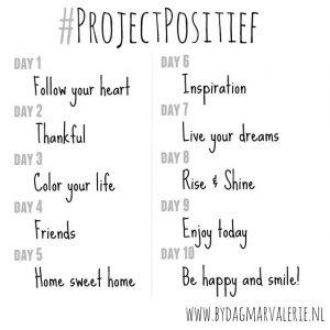 Mijn invulling van de #ProjectPositief Instagram Challenge 2.0