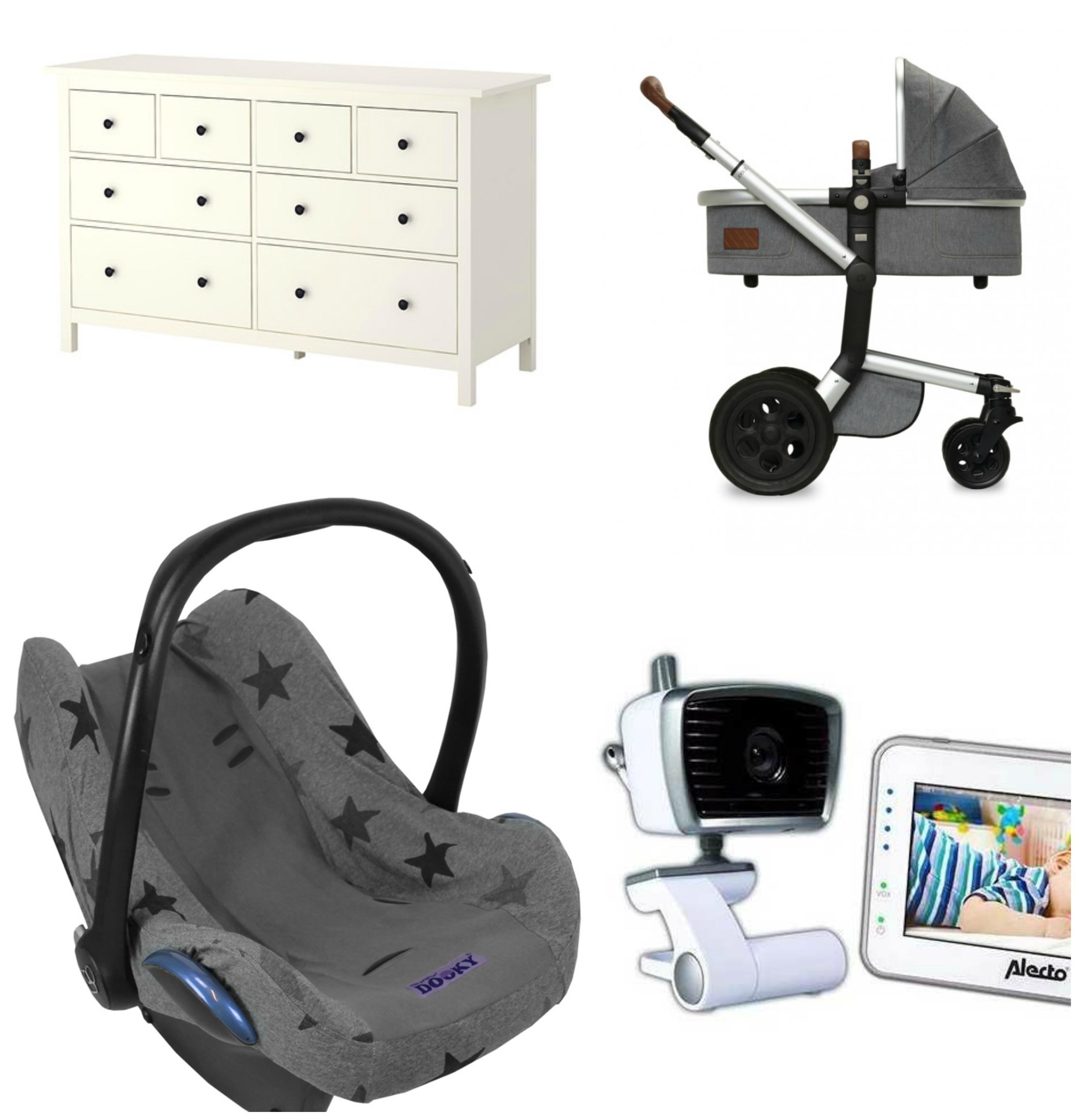 7 X Grote aankopen van de baby uitzetlijst