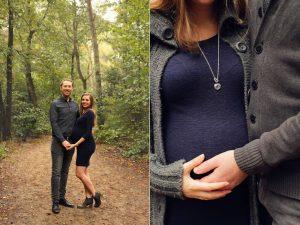 Zwangerschapsshoot in de Soesterduinen