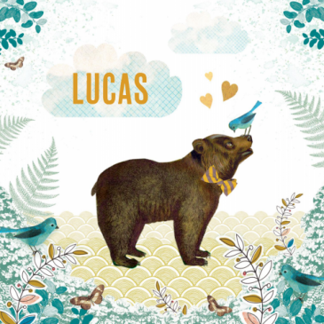 Het geboortekaartje van onze zoon Lucas