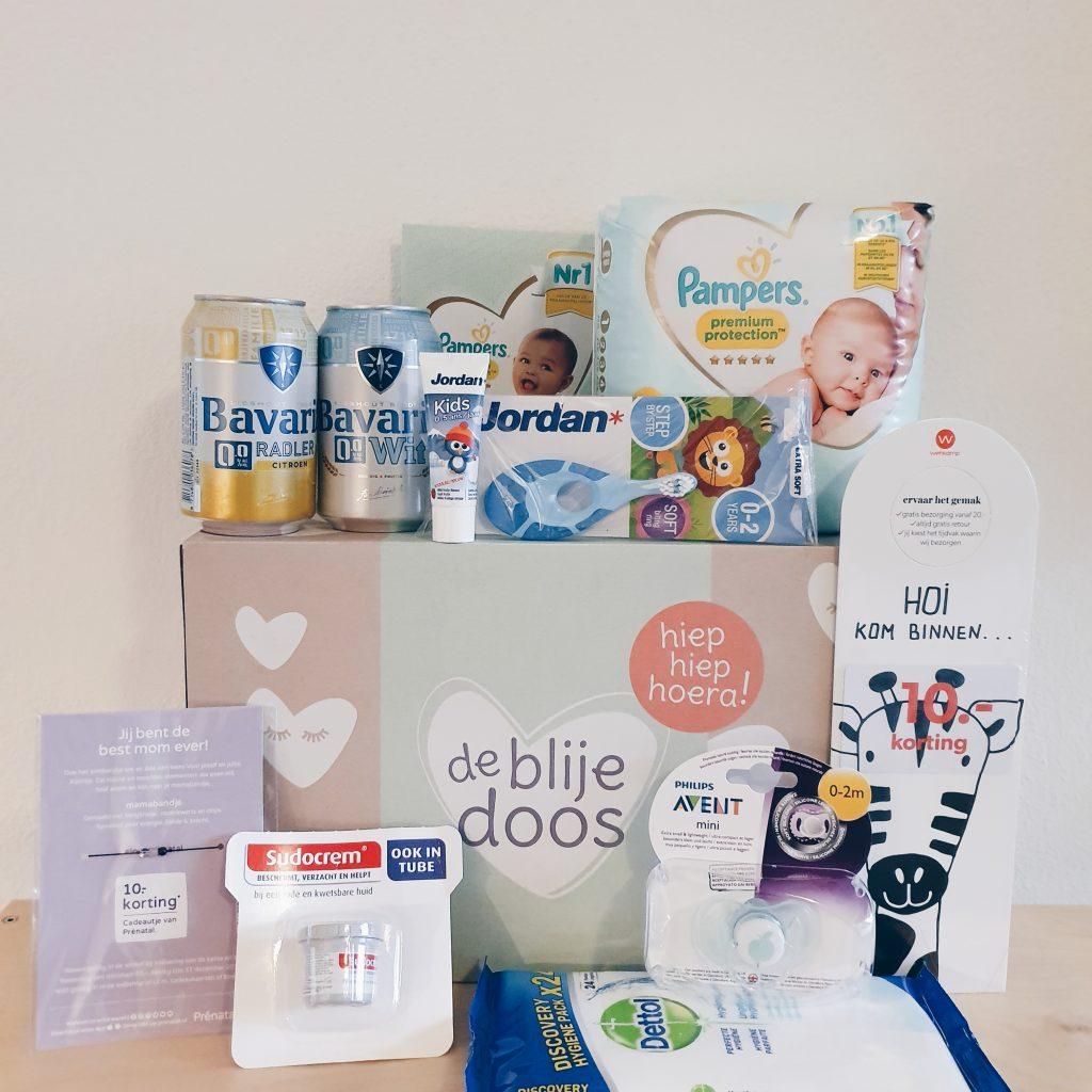 de blije doos zwangerschapsbox gratis ophalen bij Prenatal wat zit er in inhoud