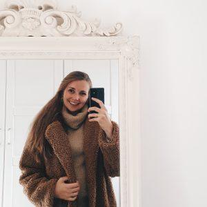 Happy herfst! Een nieuwe teddy coat en cozy trui