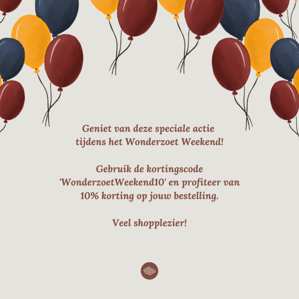 Wonderzoet webshop lancering korting